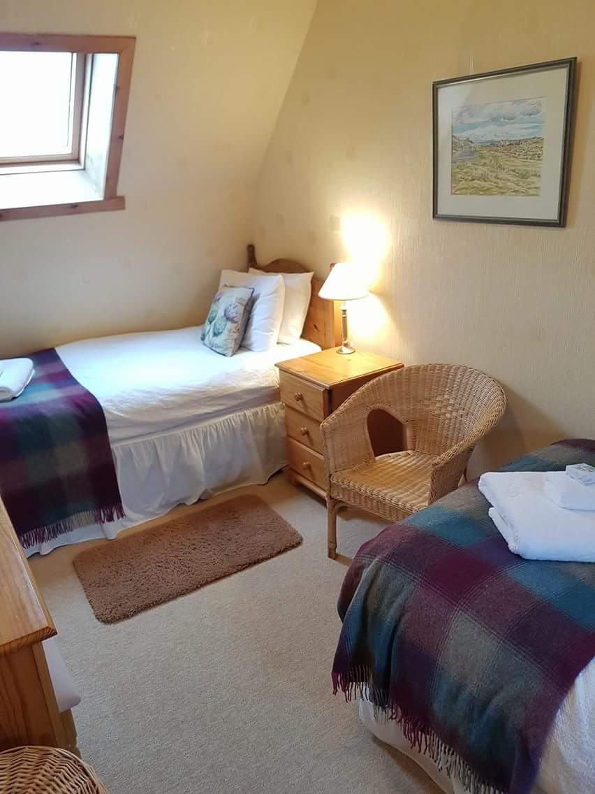Vallay House Upstairs Twin Bedroom